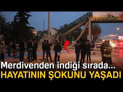 Konya'da Üst Geçit Merdiveni Çöktü!