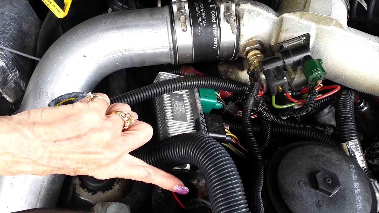 glow plug wiring diagram 7 3 2001 buick century ford 7.3 glowplug electronic control unit, module - youtube