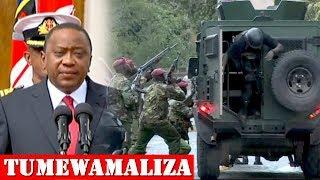 RAIS KENYATTA: TUMEWAMALIZA MAGAIDI WOTE WALIOVAMIA, HALI SASA NI SHWARI