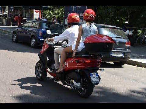Scooter sharing Enjoy con Piaggio MP3: la prova a Milano