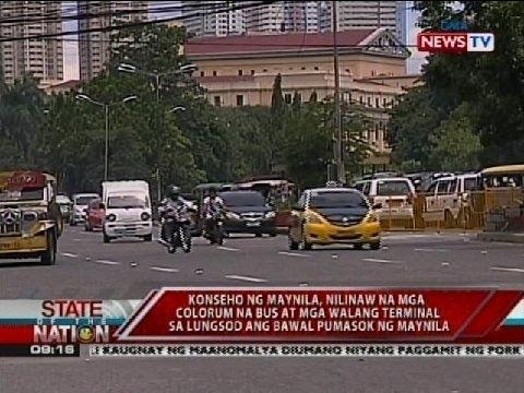 Konseho ng Maynila, nilinaw na mga colorum na bus at mga walang terminal ang bawal pumasok