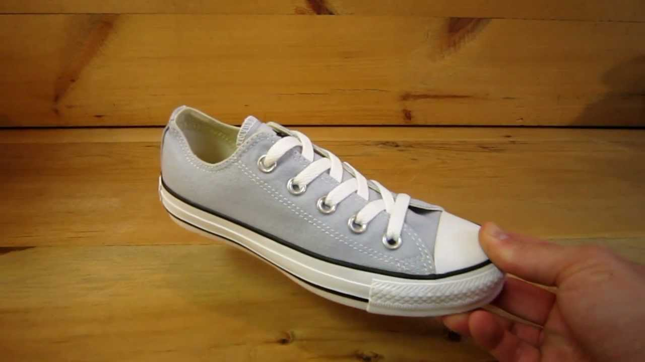97c2c1ffbee3 Converse All Stars Chuck Taylor Ox Pearl Blue - YouTube