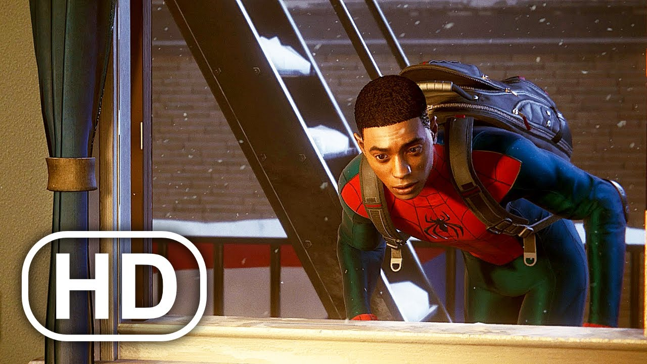 Spider-Man Miles Morales Sneaking In Family Dinner Scene HD
