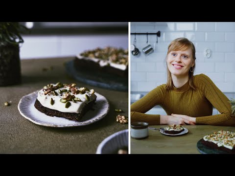 VEGAN AND GF CARROT CAKE SQUARES + Q&A: FIKA TIME | Good Eatings
