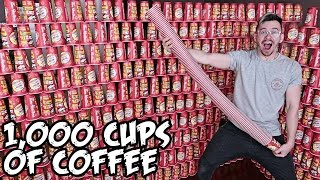 1000 CUPS OF COFFEE!! *ROLL UP THE RIM TO WIN JACKPOT CHALLENGE*