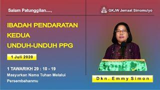 Ibadah Keluarga, 1 Juli 2020 GKJW Jemaat Simomulyo Surabaya