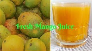 HOW TO MAKE FRESH MANGO JUICE