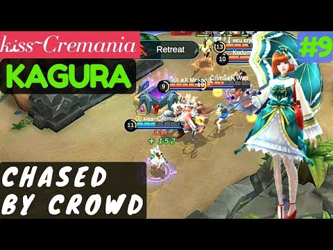 Chased By Crowd [Rank 51 Kagura] | ĸﻨss~Cremania Kagura Gameplay and Build #9 Mobile Legends