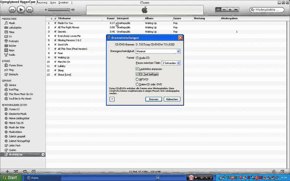 how to make a cd in itunes