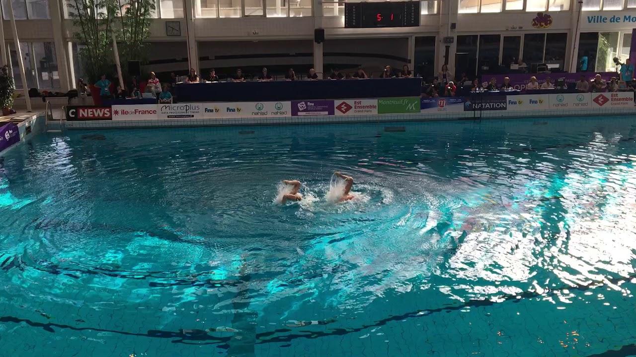 Синхронное плавание | Россия| Open de France | МИКСТ ДУЭТ| Произвольная программа