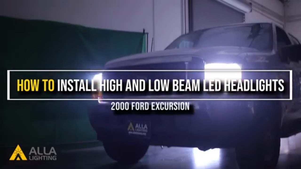 Upgrade Replace Remove 2000 04 Ford Excursion Headlights Bulbs