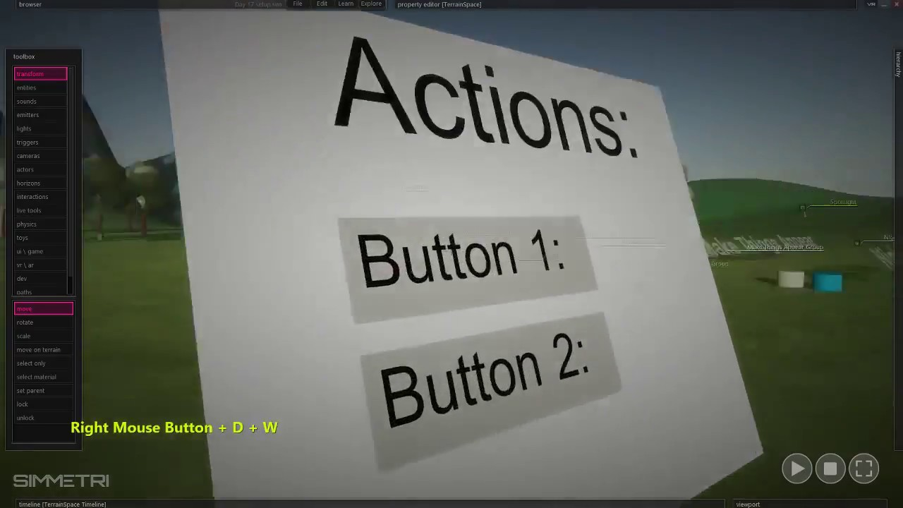 Creating a VR Interface menu of buttons - Part 2