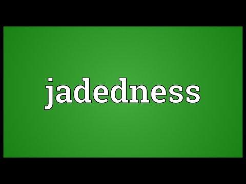 Header of jadedness