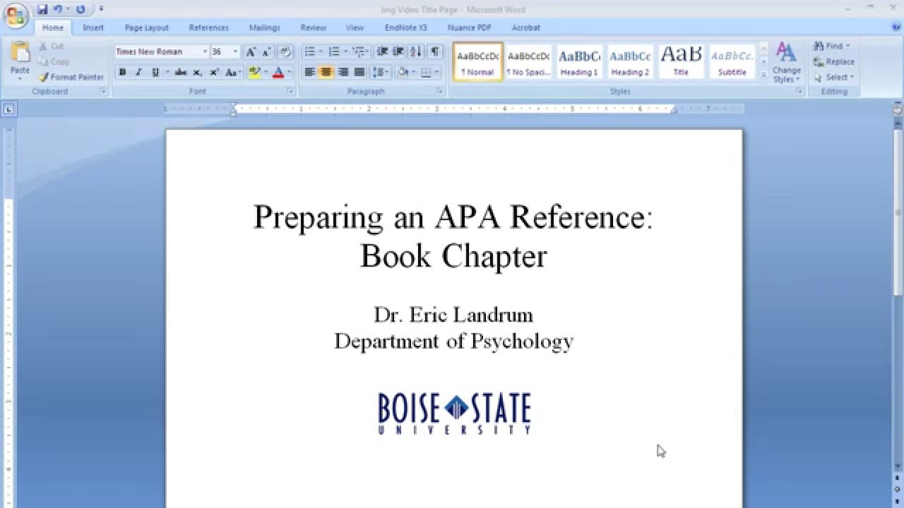 apa format for books Citing online/ebooks in apa style when citing online books and ebooks, the publisher location and name are replaced with a web site address the web site address should be the home page url of the digital library or publisher.