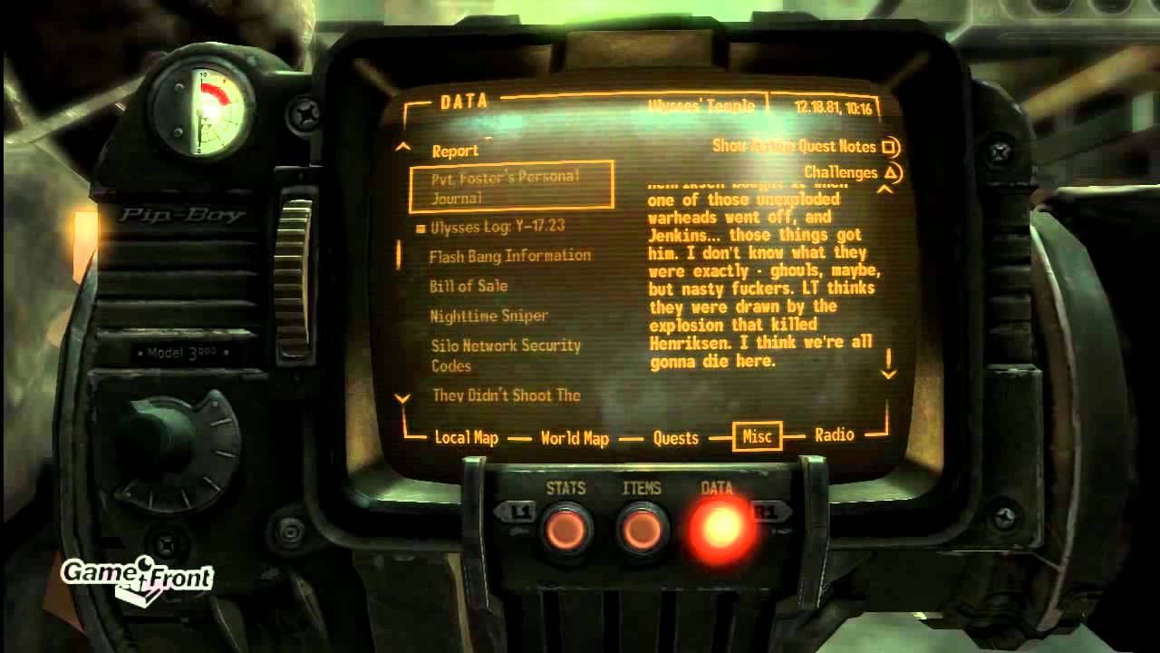 Fallout: New Vegas - Lonesome Road DLC Walkthrough - The Notes