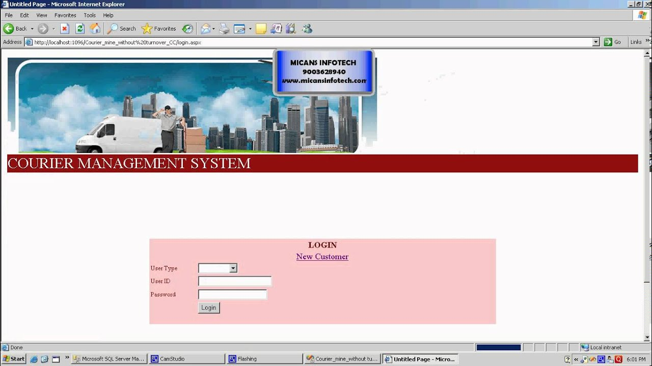 Courier Management System Youtube