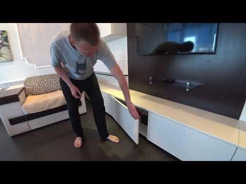 Горка из Мдф Крашеного с Aventos HF BLUM / Мебель в Гостиную . Мебель своими руками
