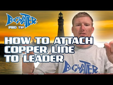 How To Tie An Albright Knot For Attaching Copper And Steel Wire Fishing Line To A Leader
