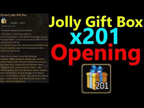 Jolly Gift Box x201 Opening :Black Desert Online