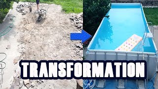 Pool Before and After | Pool Installation time lapse | Time lapse pool construction