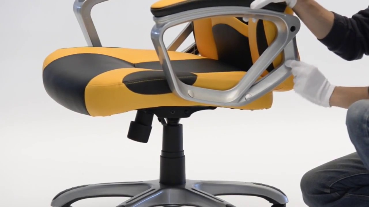 How To Install Langria Ergonomic High Back Faux Leather Racing Style Computer Gaming Office Chair