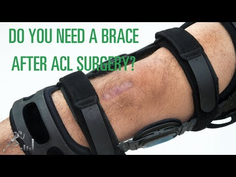 Does a young athlete need a brace after ACL surgery?