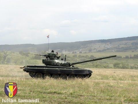 T-72 in poligonul Cincu