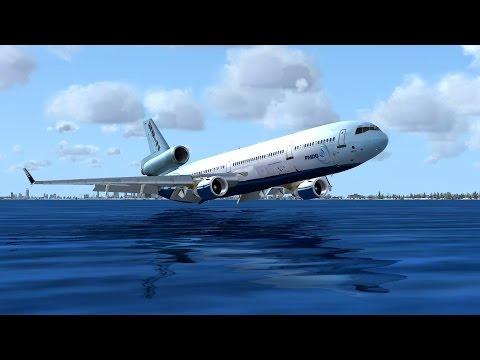 FSX - Belly Landing On Water