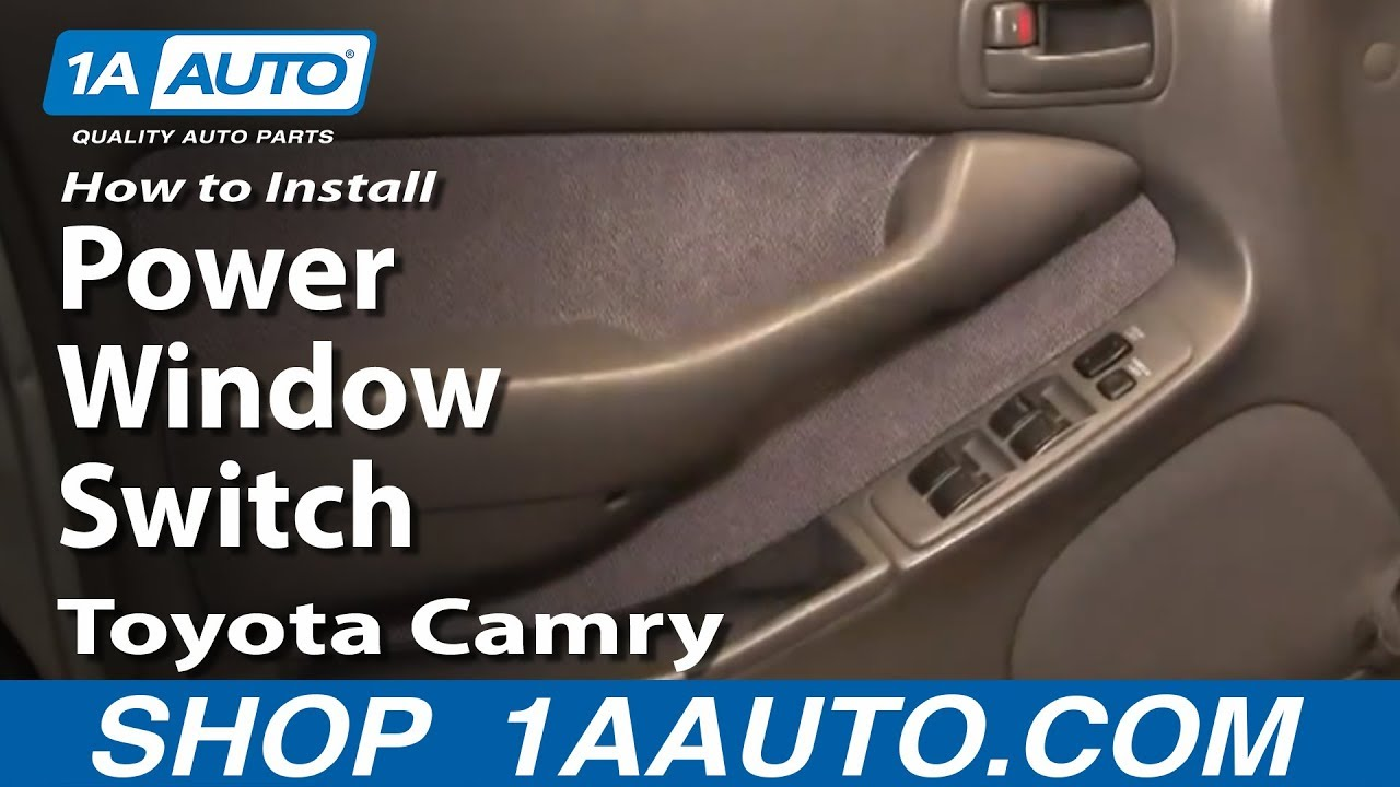 how to replace master power window switch 94 96 toyota camry [ 1280 x 720 Pixel ]