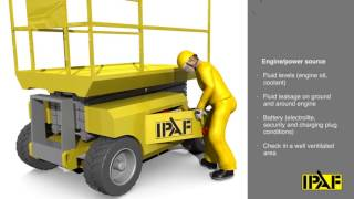 IPAF Pre start inspection 3a Vertical lift
