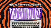 How To Fight Deplatforming: Decentralize [VIDEO]