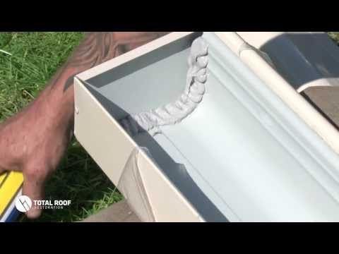 How To Install Gutter Stop End The Roof and Gutter experts www.totalroof.com.au 03 95576056