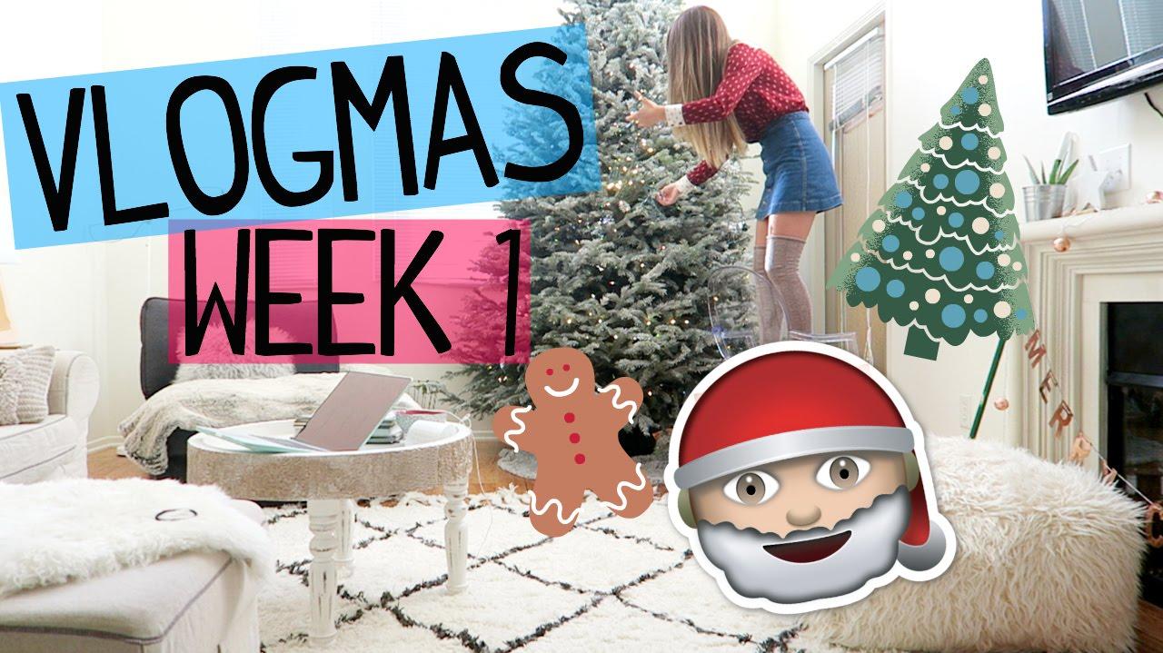 Decorating My Christmas Tree! Vlogmas Week 1 - YouTube