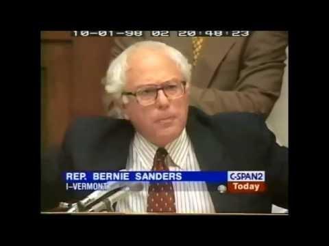 Bernie Sanders Predicts Crash of 2008 in 1998