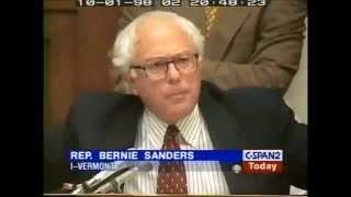 Bernie Sanders Predicts Crash of 2008 in 1998