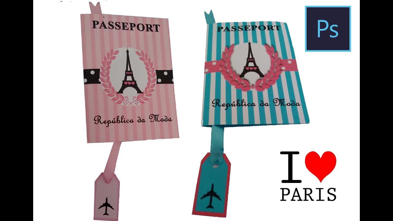 Como Fazer Convite Passaporte Paris No Photoshop 2 Youtube