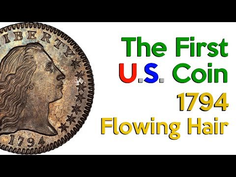 💰The first U.S. Coin and the Most Expensive 😱 Flowing Hair 1794 $ 10 Million