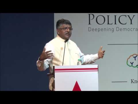 Policy BootCamp 2016 - Ravi Shankar Prasad on India's position on the Cusp of a Digital Revolution