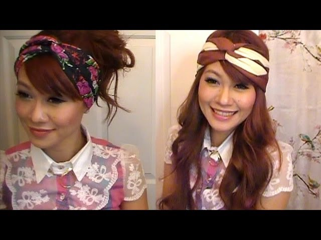 How To Twist Scarf Into Head Band PLUS Head Band DIY (Level Easy) - YouTube f6a7d97b2f8