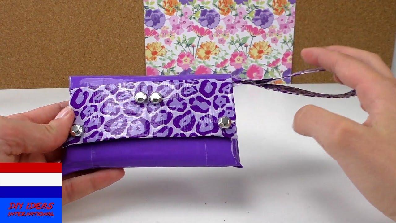 Telefoonhoesje van ducttape miniclutch met versiering for Ballonnen versiering zelf maken
