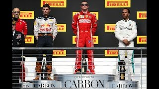USA GP 2018 Podium: Kimi, Max, Lewis ( German )