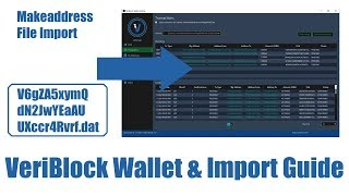 VeriBlock Wallet & Import Guide. How to import a makeaddress .dat file