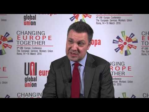 Interview with Luca Visentini at #UNIEuropa16