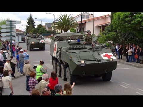 Exército Português desfile de viaturas em Santa Comba Dão