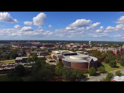 Drone Flight Around Auburn University