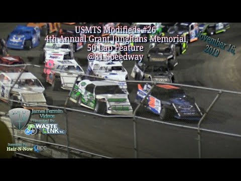 USMTS Modifieds #26, Grant Junghans Memorial 50 Lap Feature, 81 Speedway, 11/16/19