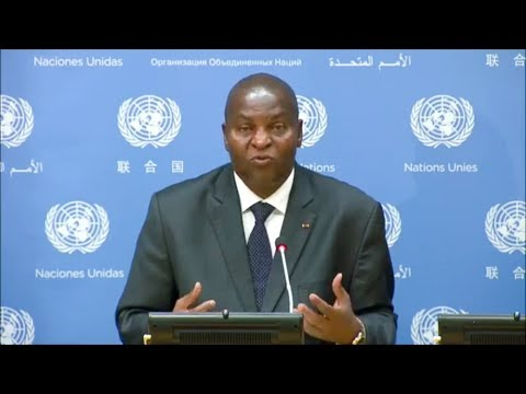 Conférence de presse du président Touadéra à l'ONU