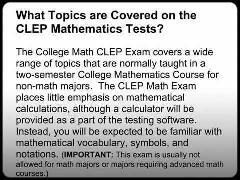 College algebra clep free study guide! Free-clep-prep. Com.