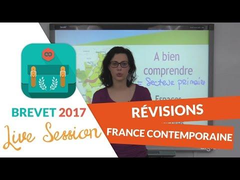 Brevet 2017 : Révisions live Histoire - Géo : La France contemporaine - digiSchool