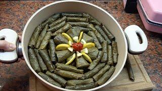 Турецкая Долма из виноградных листьев. ( кансерва узум барги уч хил ураш,чугуш)yaprak sarma.